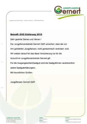GMO Erklärung 2019