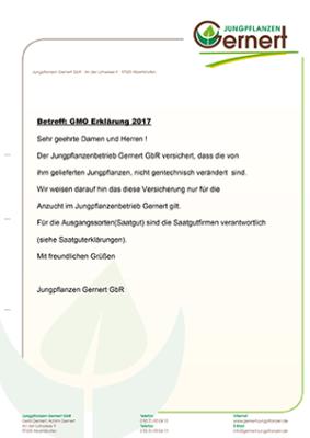 GMO Erklärung 2018